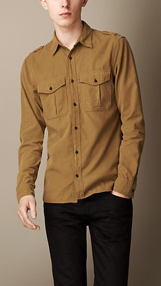 Corduroy Military Shirt