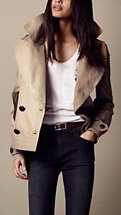 Oversize Cropped Pea Coat