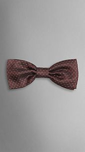 Silk Dot Pattern Bow Tie