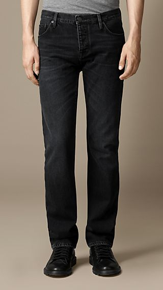 Steadman Sanded Black Slim Fit Jeans