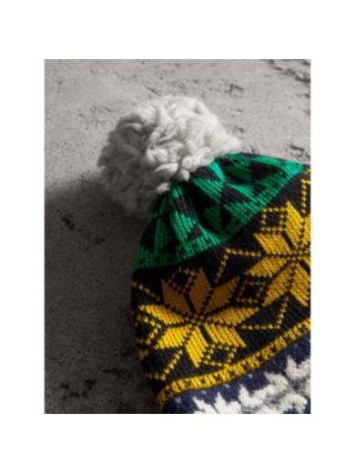 费尔岛花纹羊毛混纺无指手套 (亮黄色) | burberry