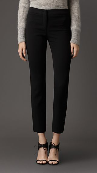 Slim Fit Faille Trousers