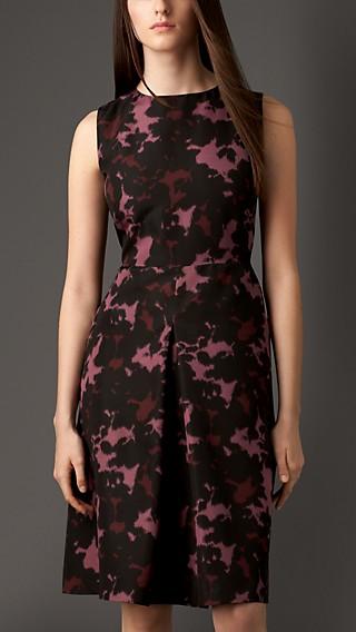 Sculptural Silk Dress
