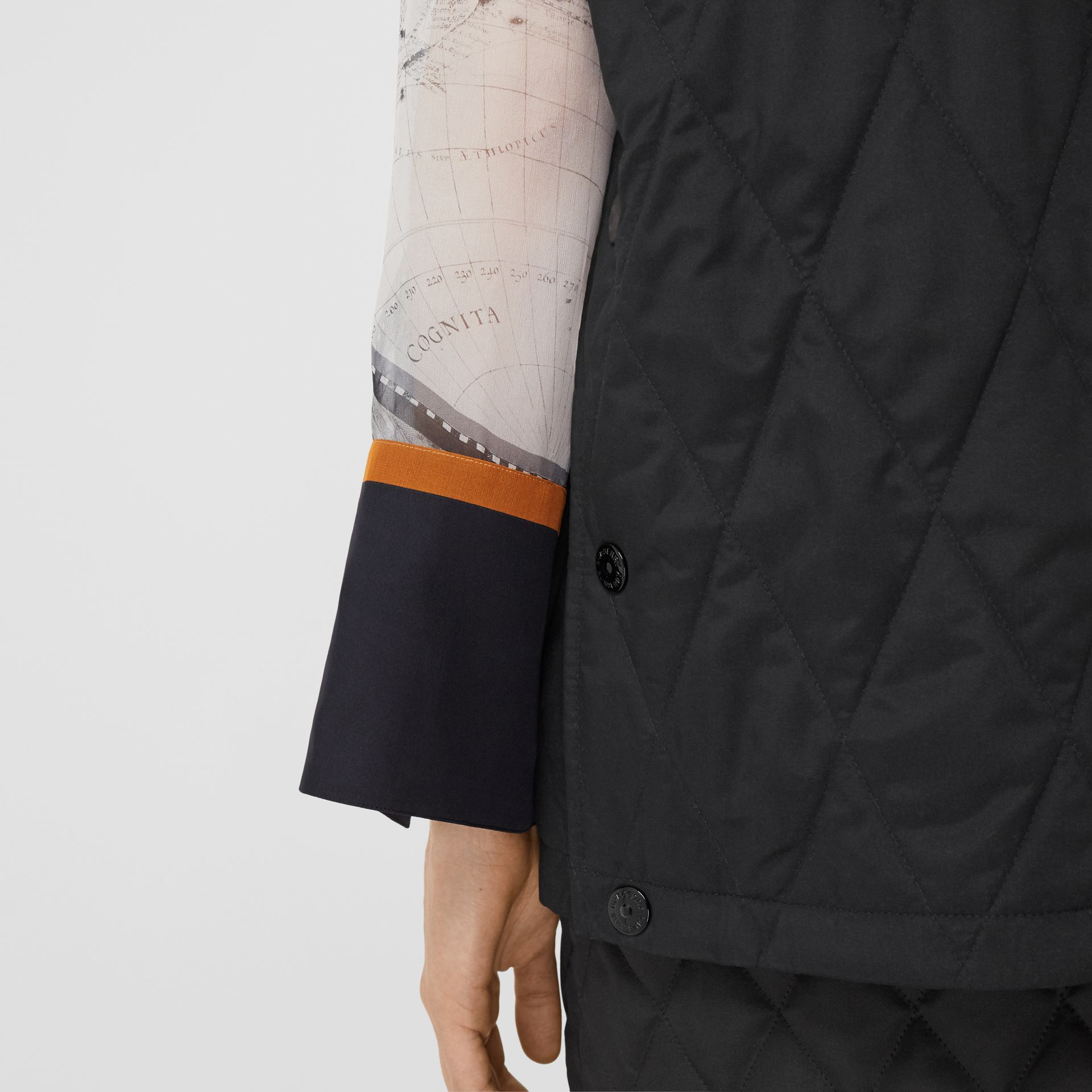 Diamond Quilted Gilet in Black   Burberry United Kingdom - gallery image 5