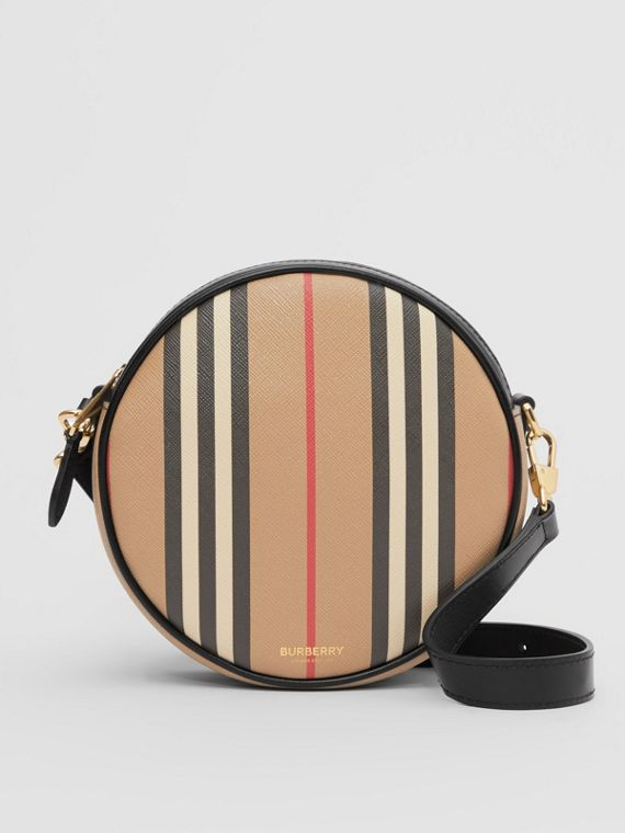 Icon Stripe E-canvas Louise Bag in Archive Beige