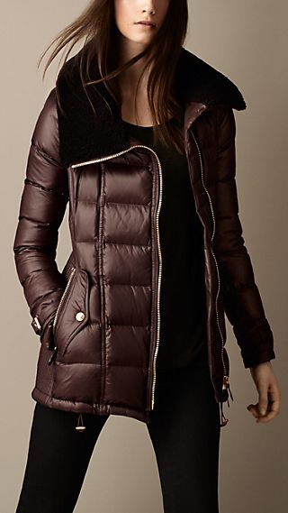 Shearling Collar Puffer Jacket