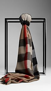Sciarpa in cashmere check