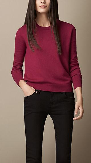 Cashmere Cotton Elbow Patch Sweater
