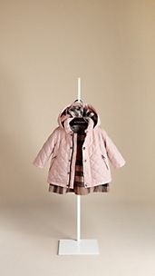 Check-Lined Quilted Jacket