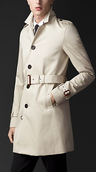 Compact Cotton Sateen Trench Coat