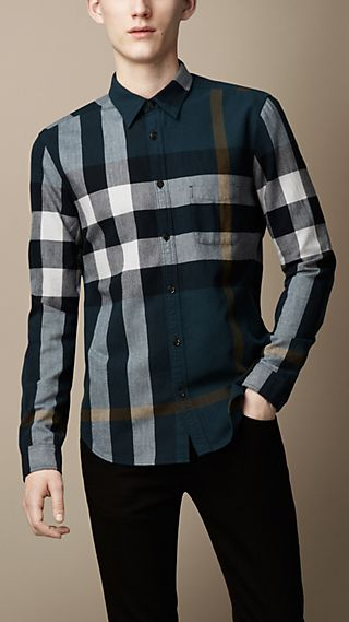Exploded Check Flannel Shirt