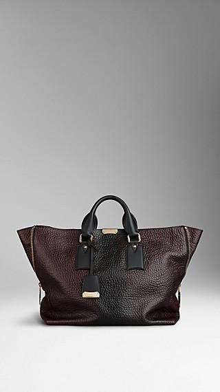 Signature Grain Leather Tote Bag