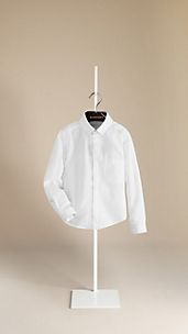 Concealed Placket Cotton Shirt
