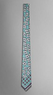 Abstract Graphic Silk Tie