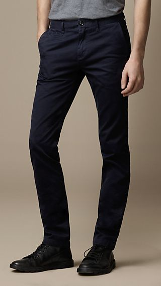Heavy Cotton Twill Skinny Fit Chinos