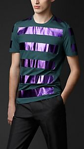 Metallic Striped T-shirt