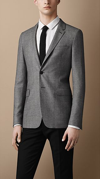 Travel Tailoring Wool Check Jacket