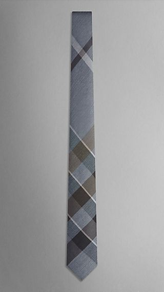 Exploded Check Silk Tie
