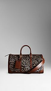 Bolso Boston con estampado animal moteado