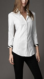 Check Cuff Cotton Shirt