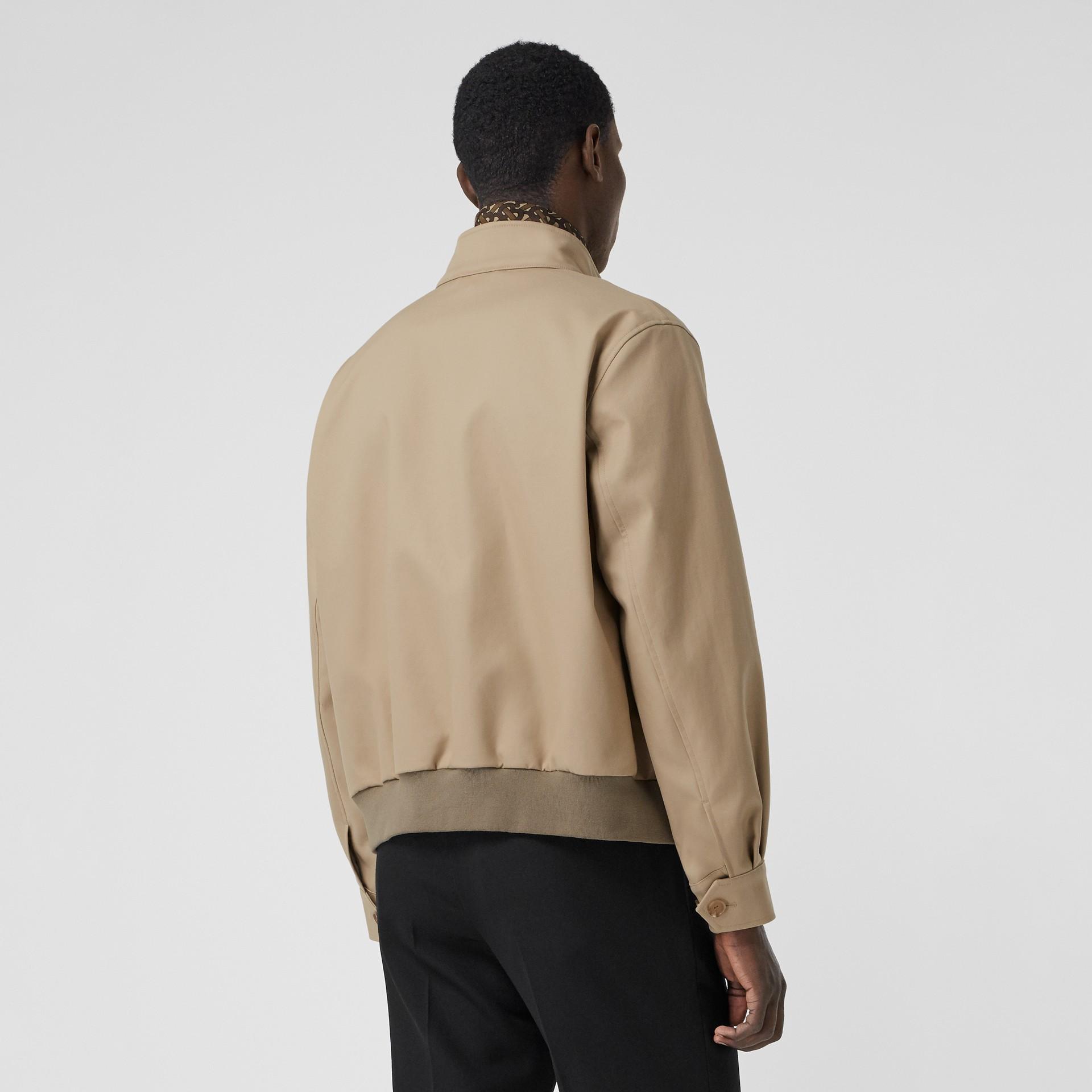 Cotton Harrington Jacket with Detachable Warmer in Honey - Men | Burberry - gallery image 2