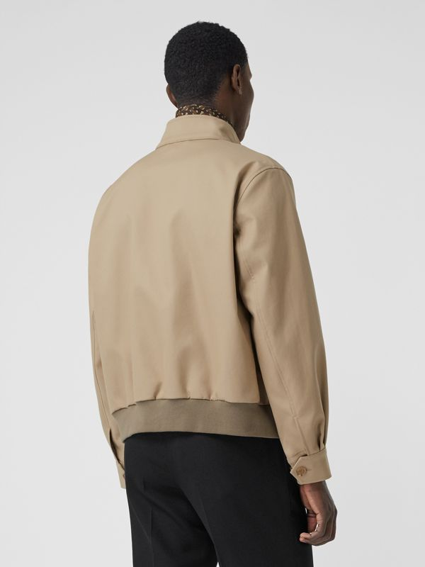 Cotton Harrington Jacket with Detachable Warmer in Honey - Men | Burberry - cell image 2