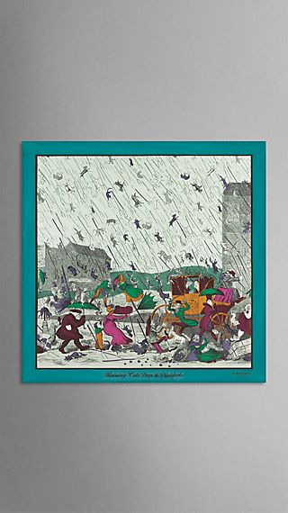 Seidenkarree mit Wettermotiv aus dem Archiv – mittelgroß