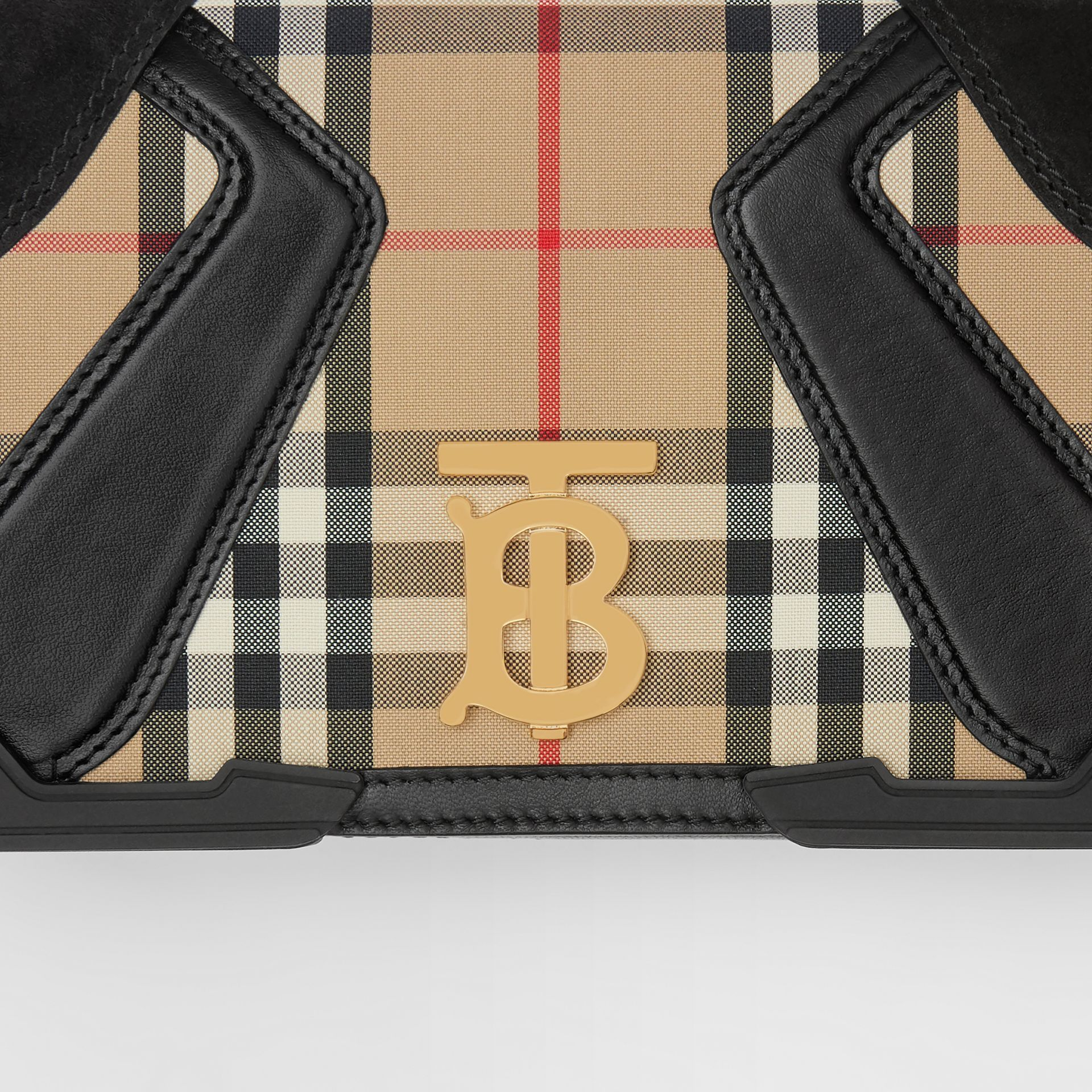 Small Appliqué Vintage Check Lola Bag in Archive Beige - Women | Burberry Australia - gallery image 1