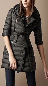 Mid-Length Quilted Trench Coat
