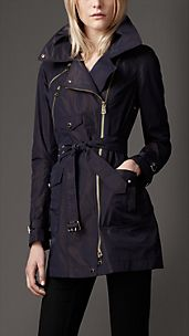 Short Biker Trench Coat