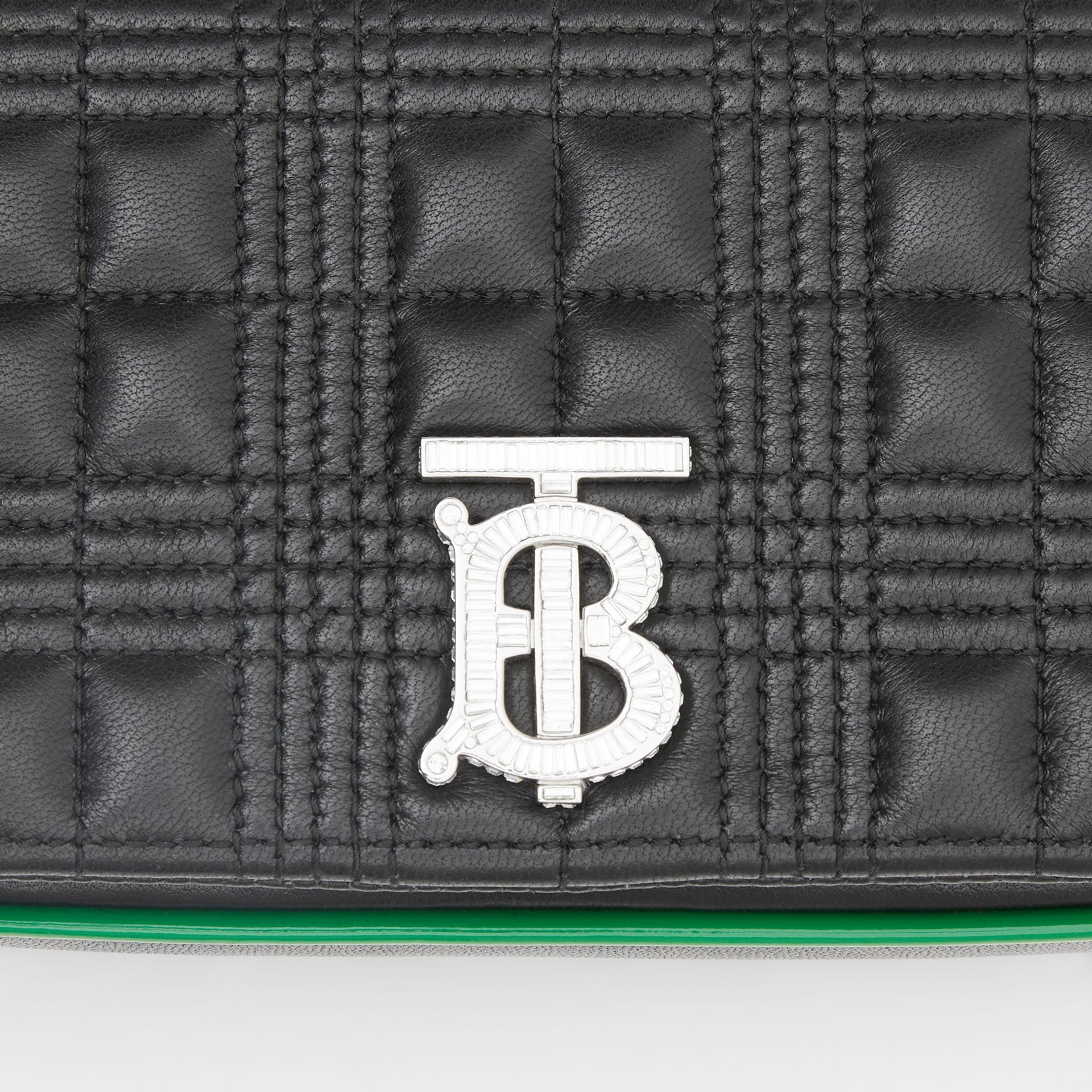 Mini Quilted Lambskin Lola Bag in Black - Women | Burberry - gallery image 1