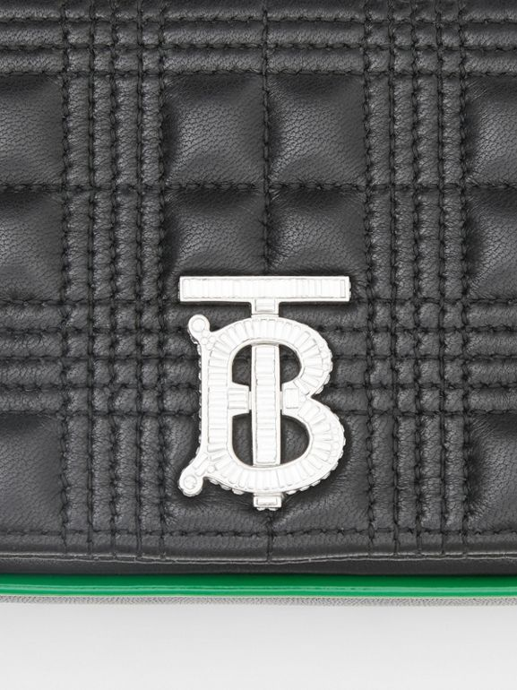 Mini Quilted Lambskin Lola Bag in Black - Women | Burberry - cell image 1
