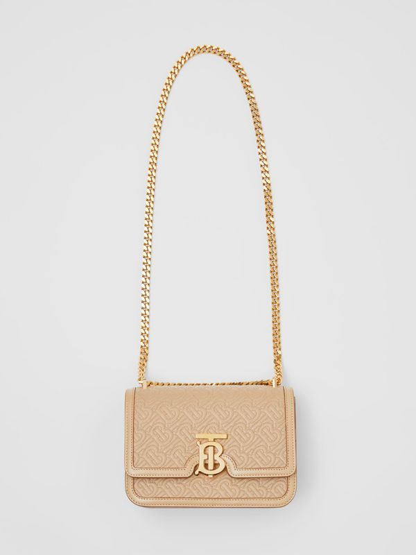 Small Quilted Monogram Lambskin TB Bag in Honey - Women | Burberry - cell image 3