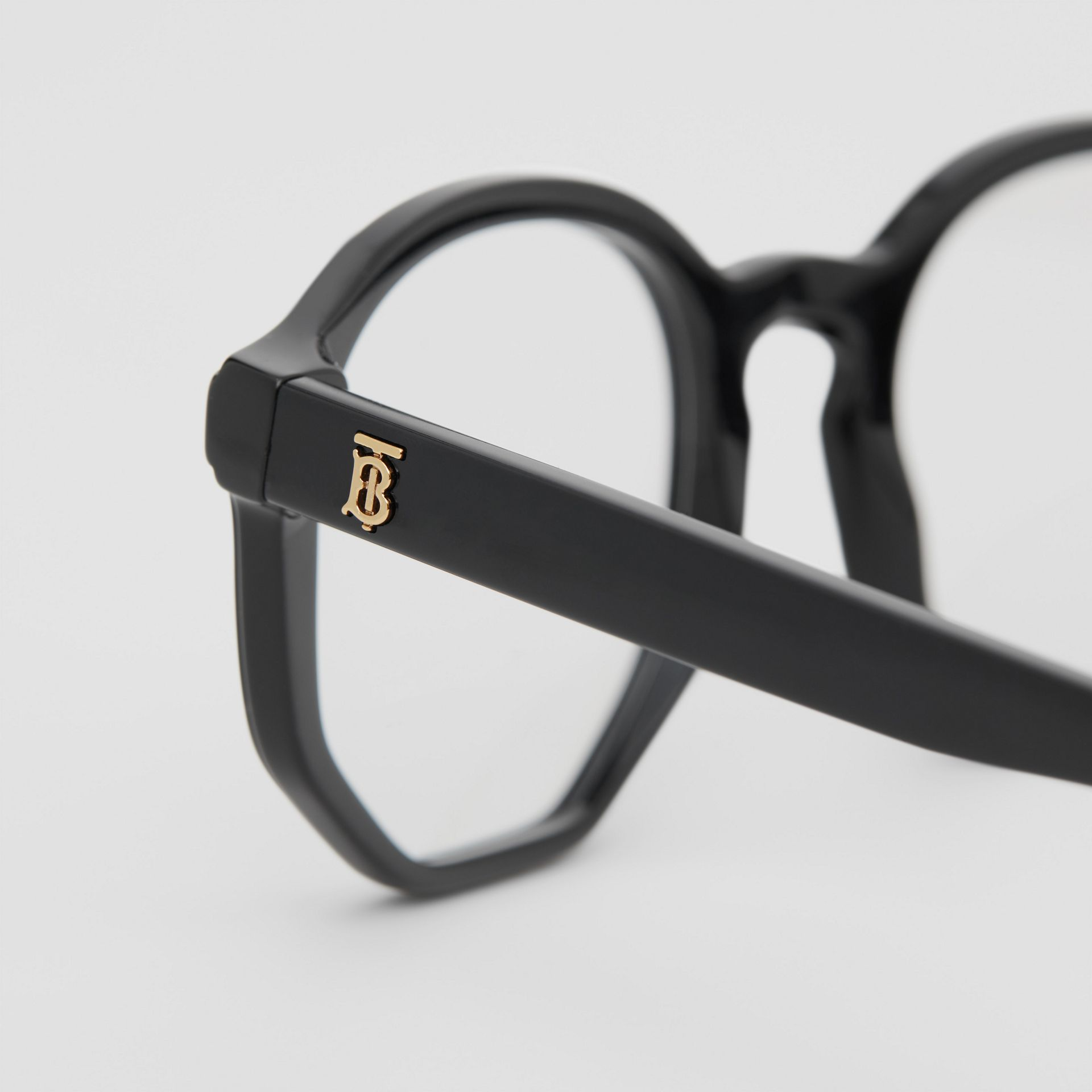 Geometric Optical Frames in Black - Women | Burberry - gallery image 1
