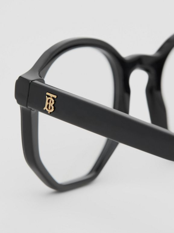 Geometric Optical Frames in Black - Women | Burberry - cell image 1