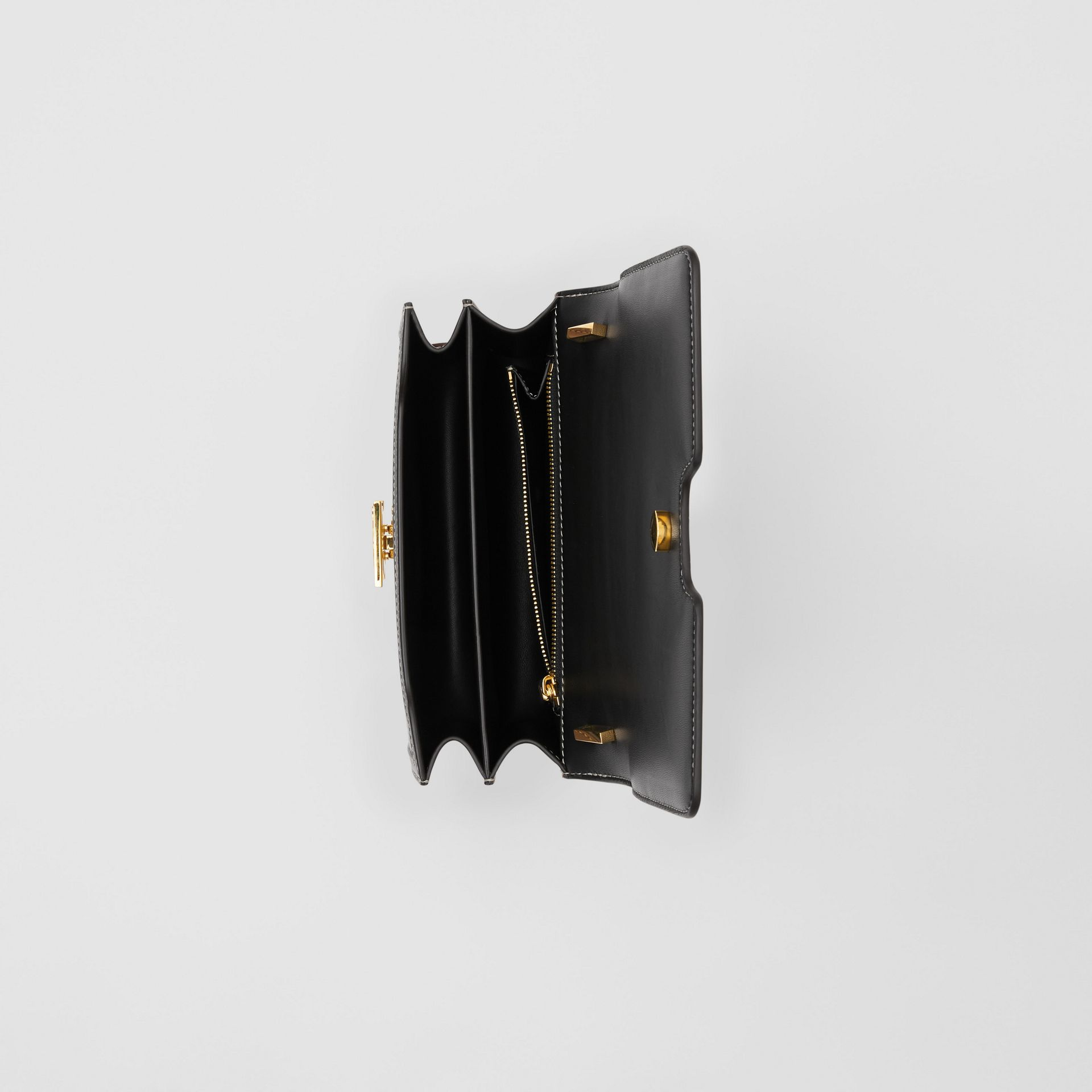 Small Tri-tone Canvas and Leather TB Bag in Black/tan - Women | Burberry United States - gallery image 4