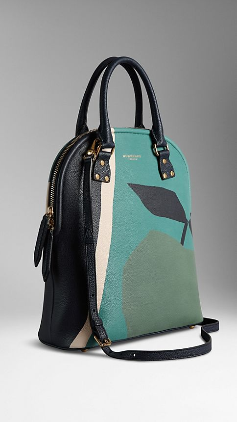Storm grey The Medium Bloomsbury in The Orchard Print Leather - Image 1