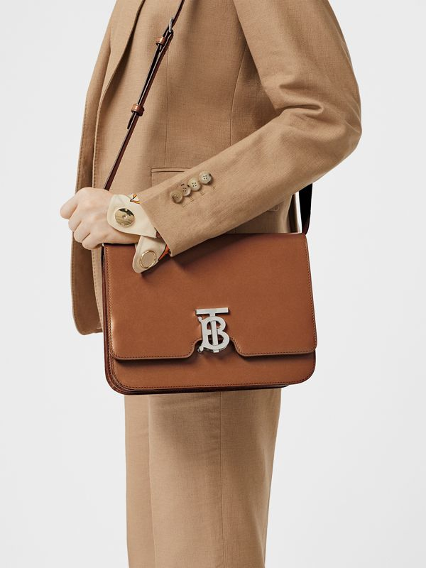 Medium Leather TB Bag in Malt Brown - Women | Burberry - cell image 2