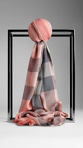 Schal aus Seide und Kaschmir mit Check-Muster