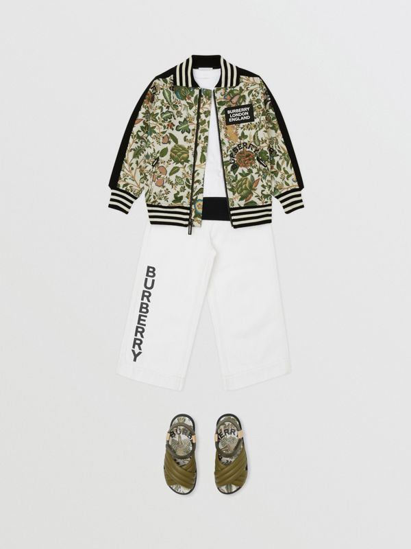 Botanical Print Neoprene Bomber Jacket in Olive | Burberry Hong Kong S.A.R - cell image 3