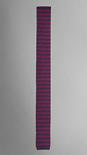 Striped Knitted Silk Tie