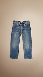 Swaine Vintage Wash Tapered Jeans