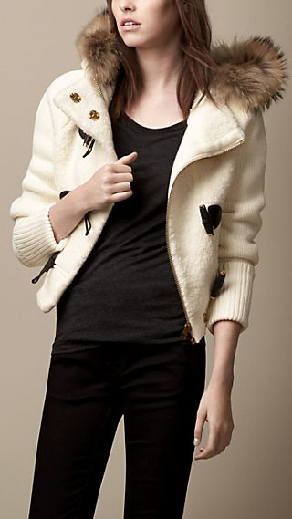 Shearling Effect Duffle Jacket