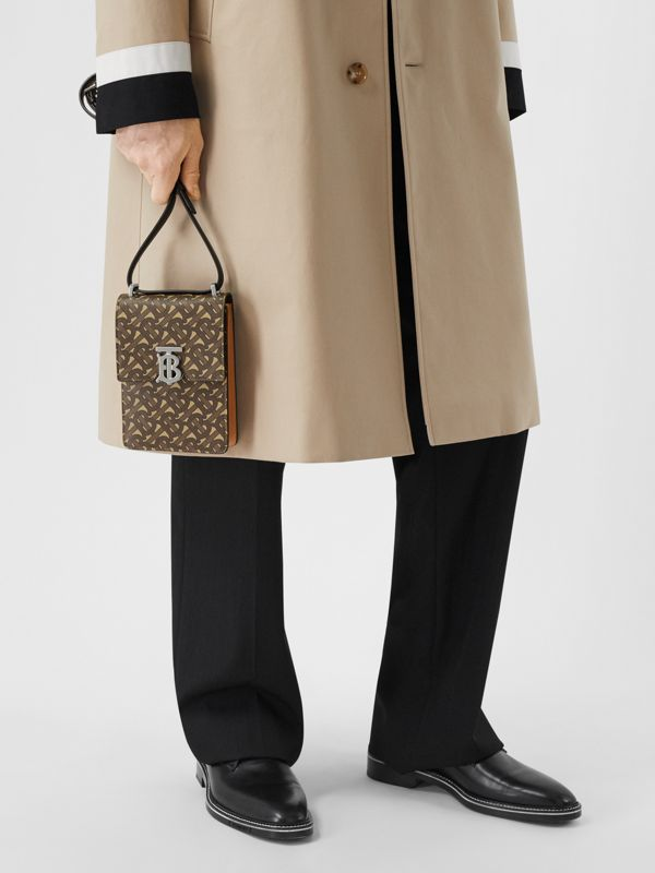 Monogram Print E-canvas Robin Bag in Bridle Brown | Burberry - cell image 3