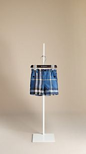 Check Cotton Linen Shorts