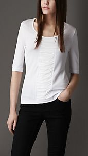 Ruched Detail Jersey Top