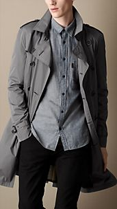 Mid-Length Technical Taffeta Trench Coat