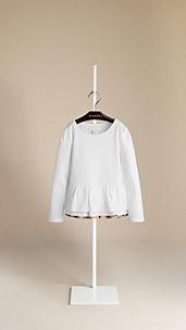 Frill Detail Long Sleeve T-Shirt