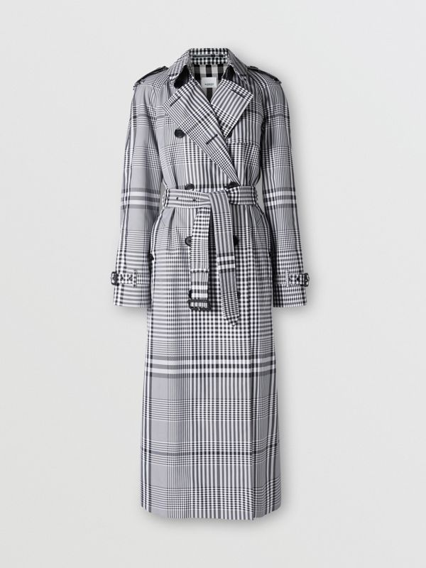 Check Twill Trench Coat in Black/white - Women | Burberry United States - cell image 3