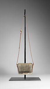 Studded Metallic Lizard Crossbody Bag